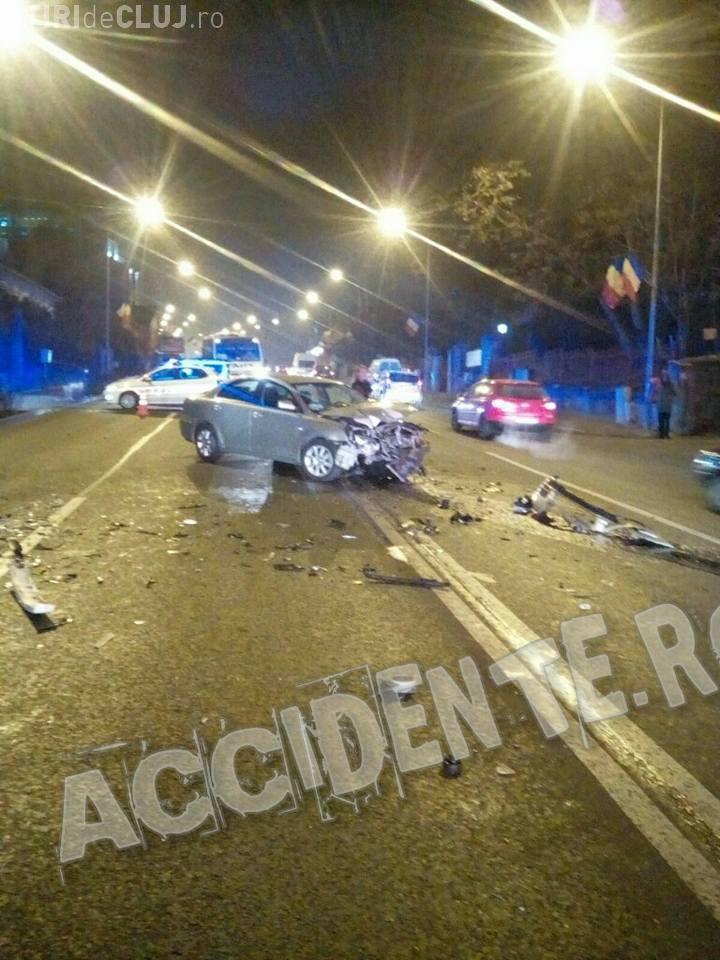 Accident pe Calea Turzii, surprins LIVE de un șofer - VIDEO