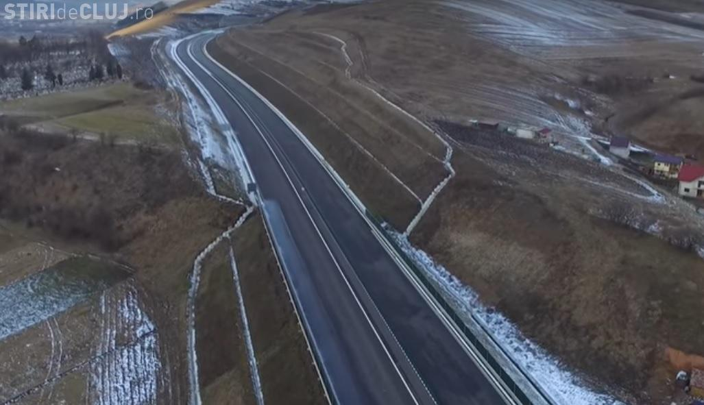 Imagini AERIENE de pe Autostrada Transilvania. Tronsonul va fi terminat, dar nu dat în folosință - VIDEO