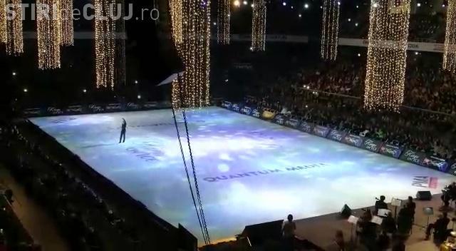 Show total pe gheață la Cluj. Regii patinajului au riscat totul pentru public - VIDEO