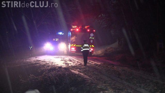 CLUJ: Incendiu tragic la Nima. Un bărbat a suferit arsuri pe 90% din corp VIDEO