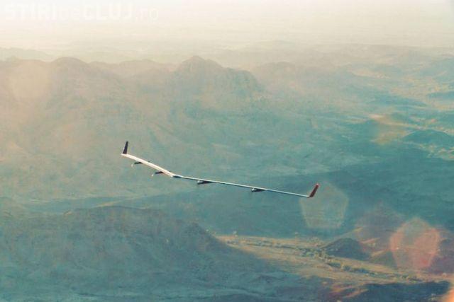 Una dintre dronele Facebook, prin care ofereau internet gratuit, s-a prăbușit