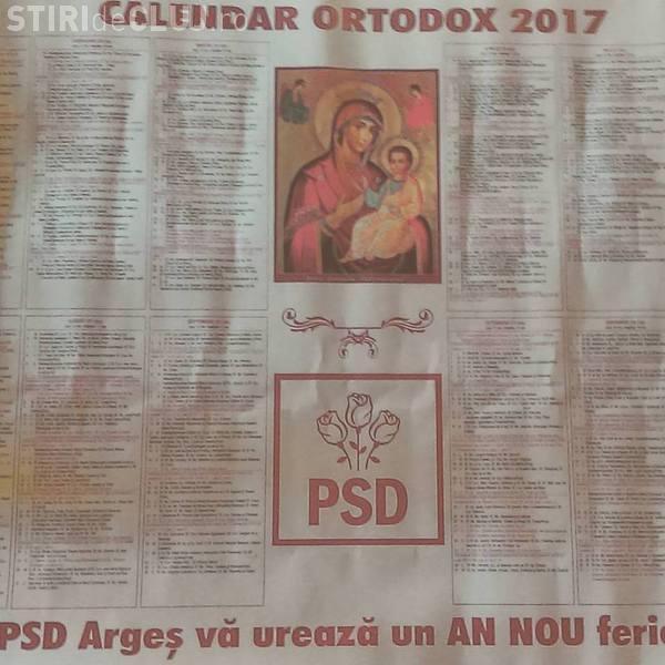PSD și-a pus sigla pe calendarul ortodox pentru 2017. Ce spune Patriarhia