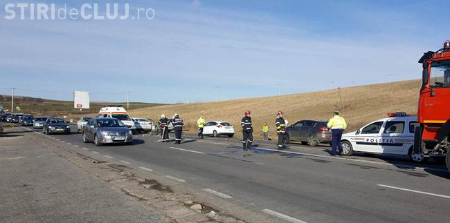 Accident pe drumul Turda - Cluj-Napoca. O femeie a ajuns la spital VIDEO