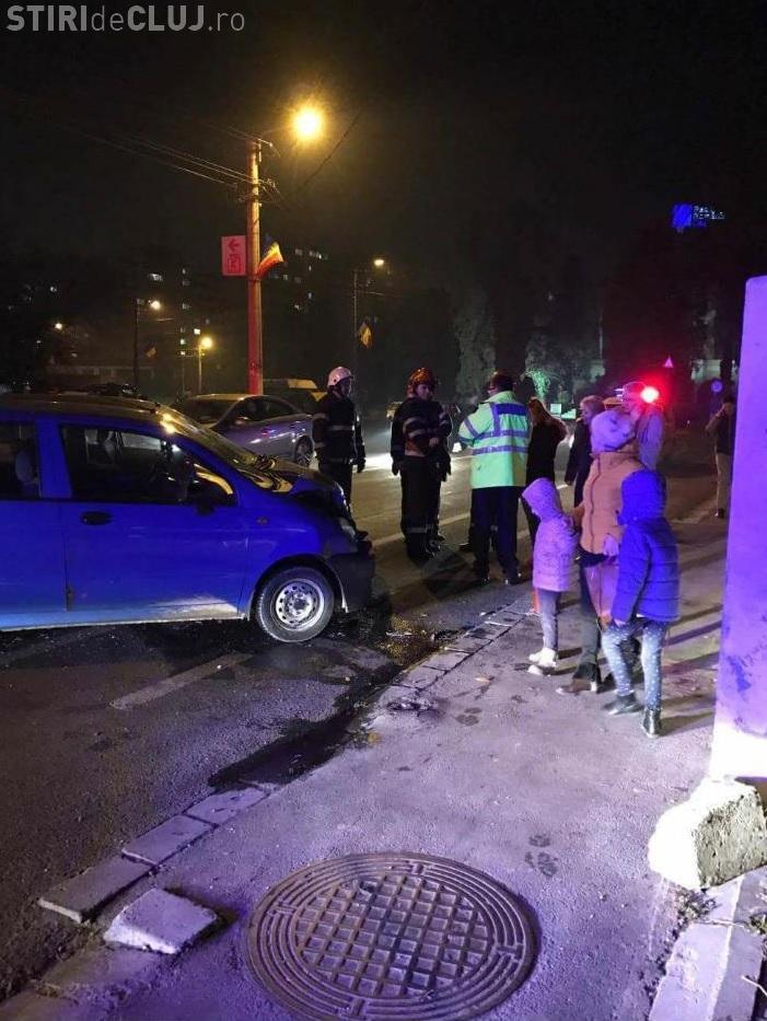 Accident în Grigorescu, pe strada Donath - FOTO