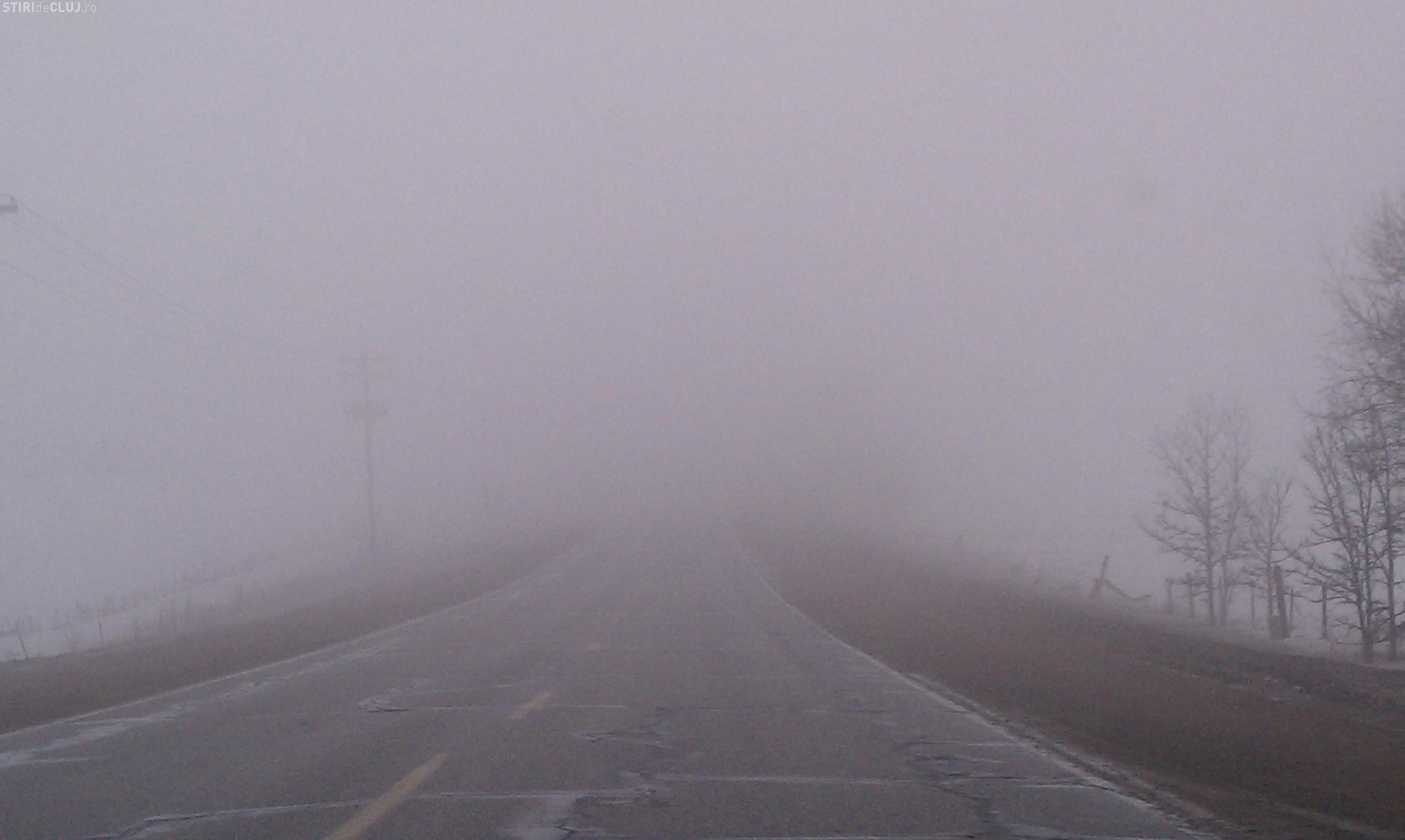 INFOTRAFIC: Ceața afectează județul Cluj