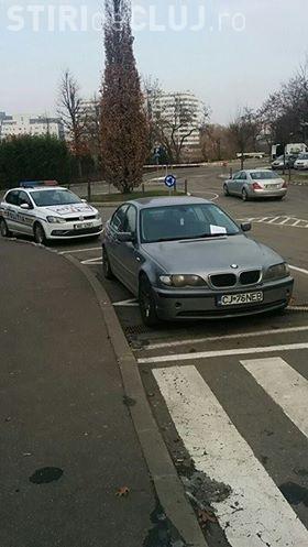 I-au blocat roțile la Iulius Mall Cluj! Detaliul din imagine i-a enervant pe șoferi