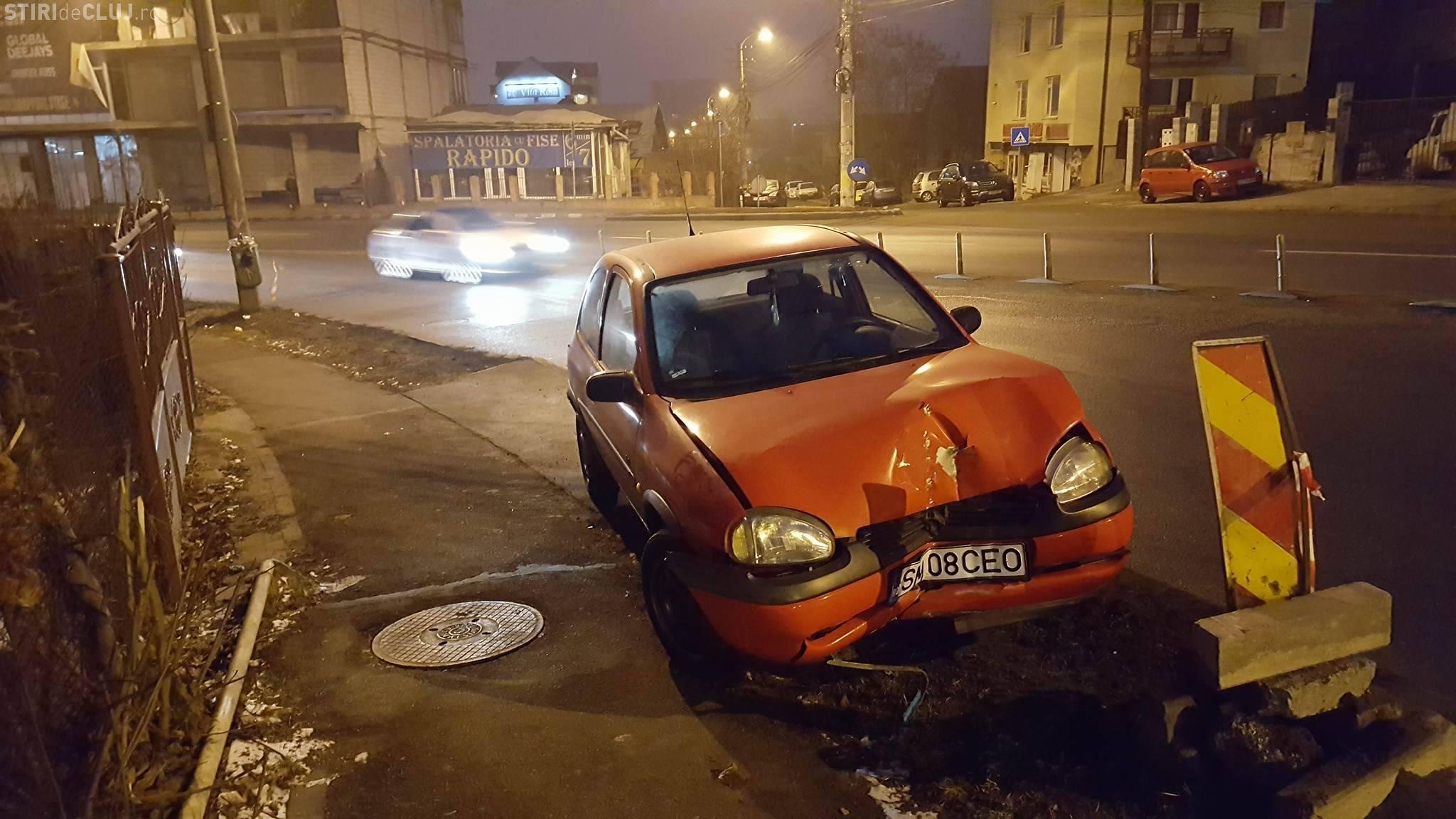 Accident pe strada Frunzișului! E o zonă cu risc ridicat? - FOTO