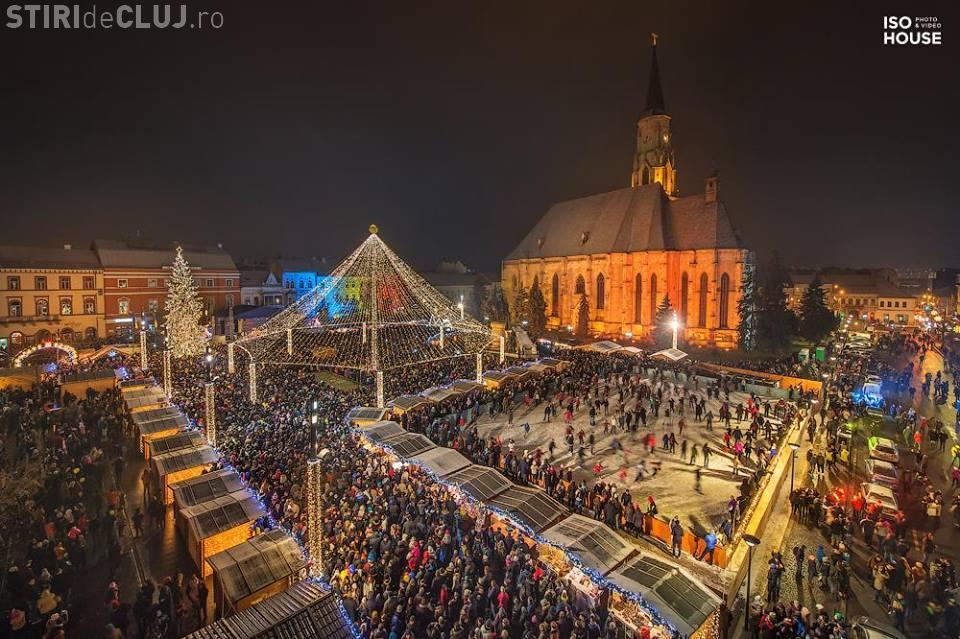 Foc de artificii, spectacol de lumini și concerte de Revelion, în centrul Clujului. Vezi programul evenimentelor