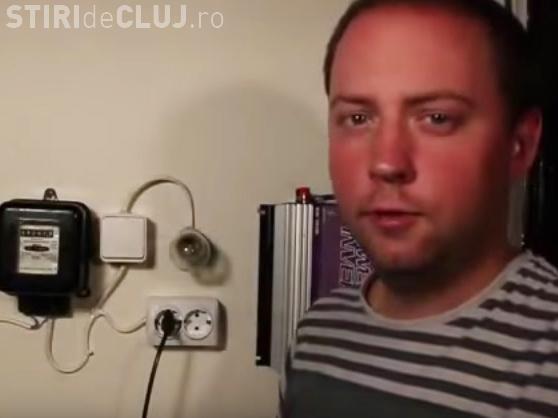 """VIDEO - Un român a inventat """"metoda legală"""" prin care păcăleşte contorul electric"""