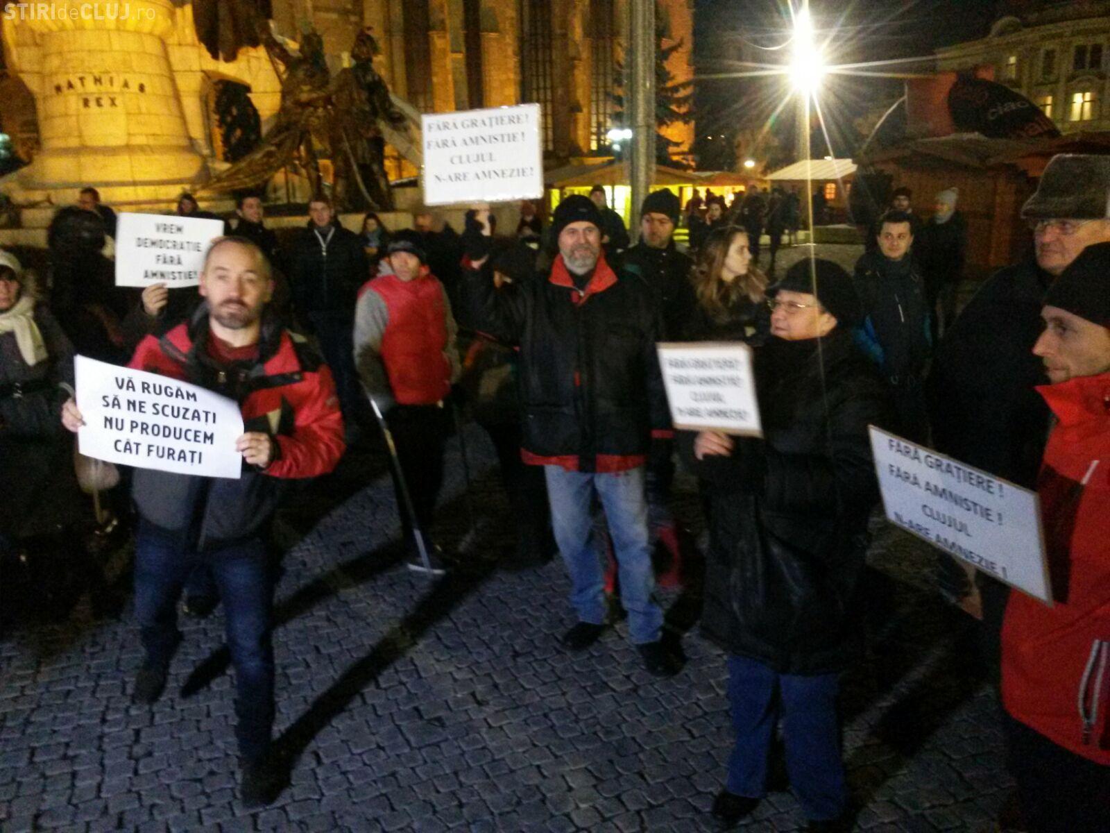 Un nou protest împotriva legii gratierii la Cluj. Când se iese în stradă