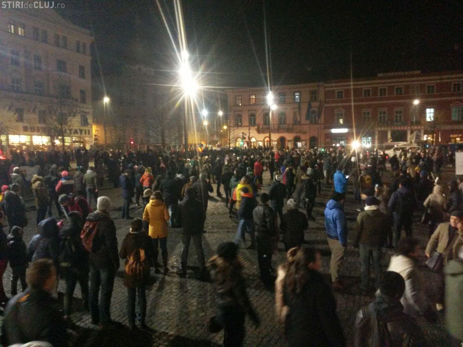 Clujenii ies din nou în stradă, marți seară. S-a intrat în a treia săptămână de proteste