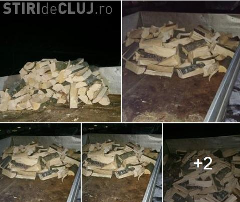 Cluj - Transporta patru saci de lemne de foc și poliția i-a confiscat mașina. Lemnele erau pentru școală - FOTO