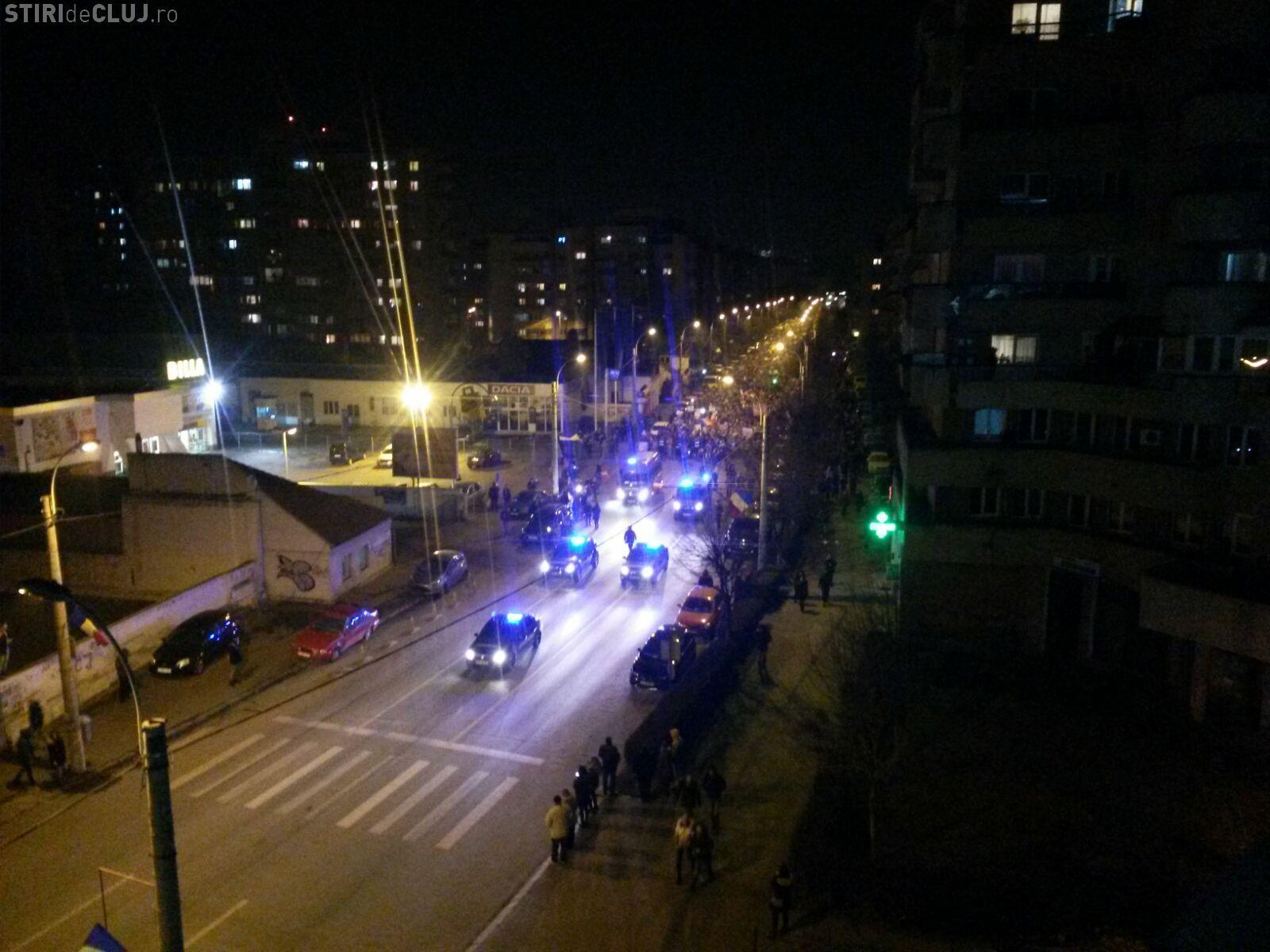 Imagini spectaculoase de la protestul din Cluj! Vezi imagini de la cel mai mare protest din istoria Clujului FOTO/VIDEO