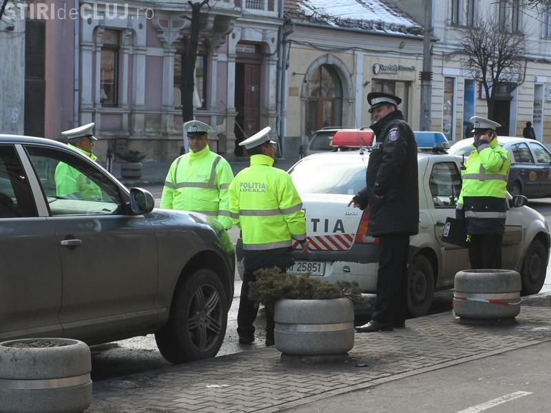Cluj-Napoca: Peste 700 de amenzi pentru parcări neregulamentare în zona centrală
