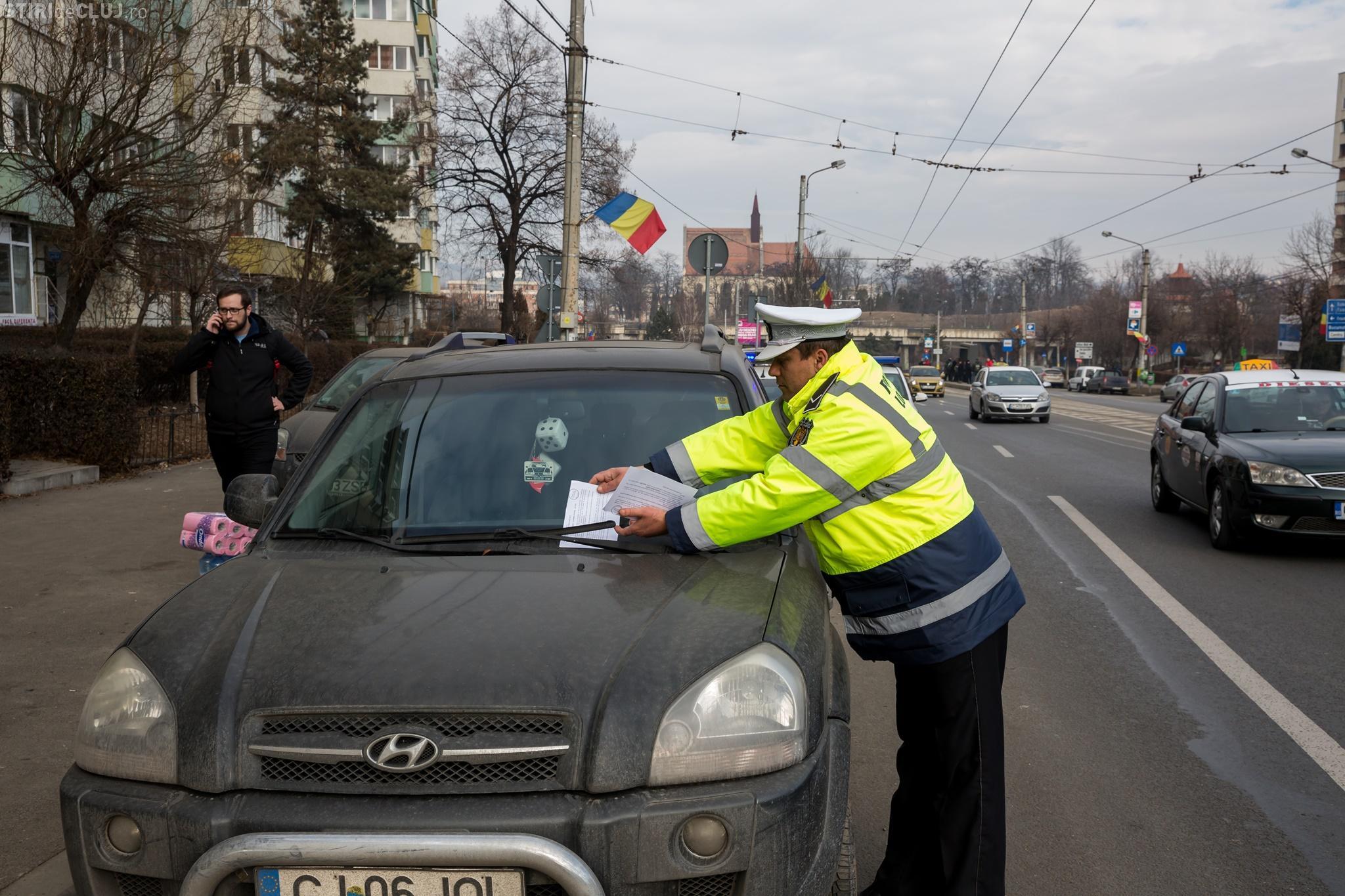 Cluj-Napoca: Din 9 februarie se ridică mașinile parcate neregulamentar