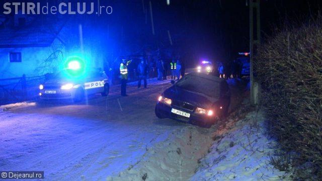 CLUJ: Un șofer beat la volan a ajuns la spital, după ce a cauzat un accident  FOTO