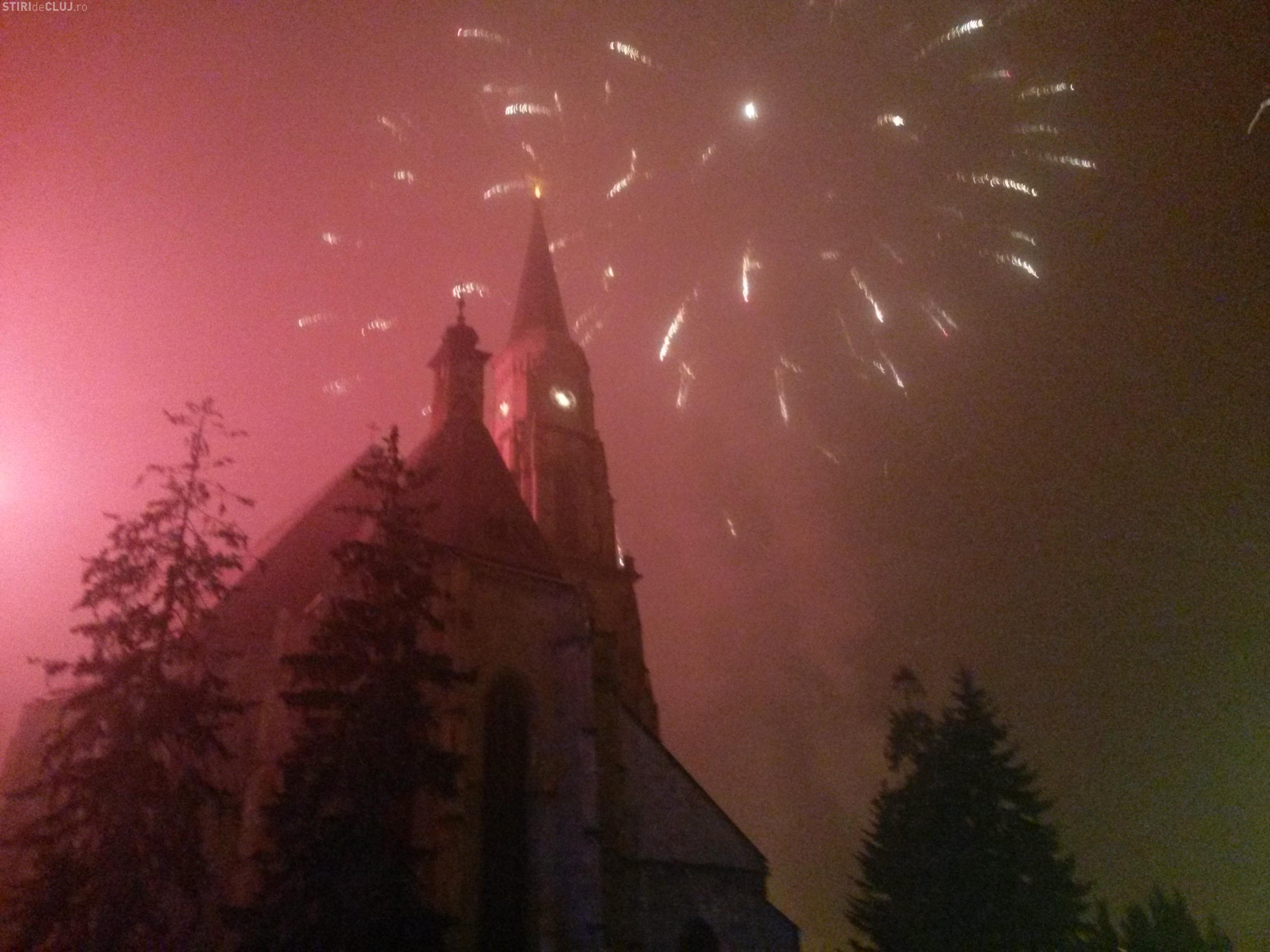 Artificii superbe la Cluj, de Ziua Unirii Principatelor. Finalul a fost MAGIC - VIDEO
