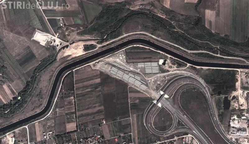 Pași pentru construirea podului peste Someș, în Gilău, la Autostrada Transilvania
