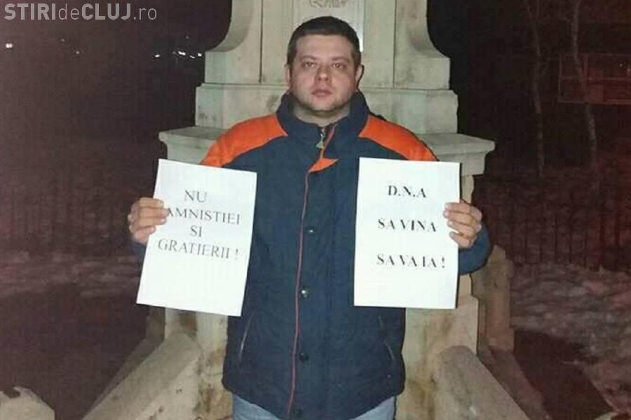 Singurul protestatar din Odobești, jud. Vrancea, dat în judecată de primarul PSD