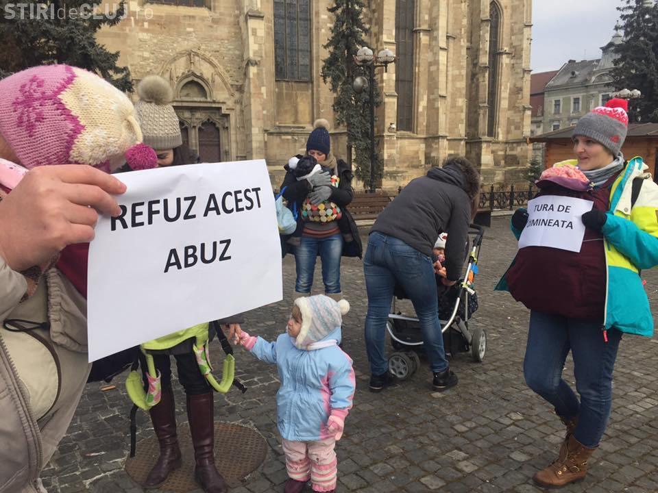 Protecția Copilului, sesizată pentru folosirea copiilor la proteste
