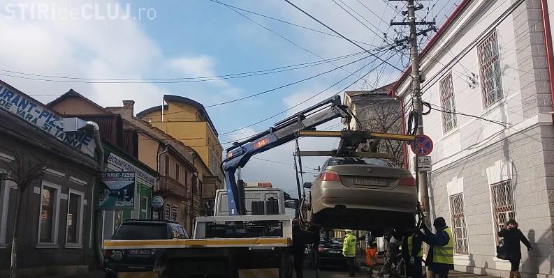 Cluj - Cum se ridică o mașină în 60 de secunde - VIDEO