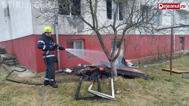 CLUJ: O familie in Dej a rămas fără locuință, după ce apartamentul le-a fost mistuit de flăcări FOTO