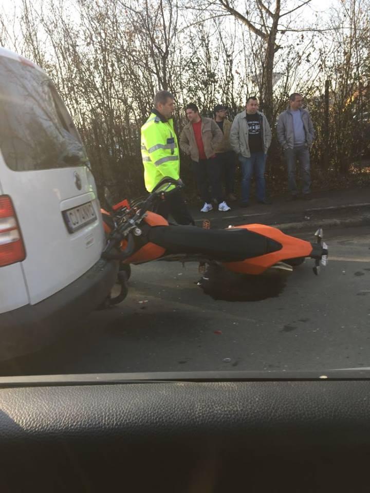 Motociclist rănit pe strada Nădășel, din Cluj-Napoca - FOTO
