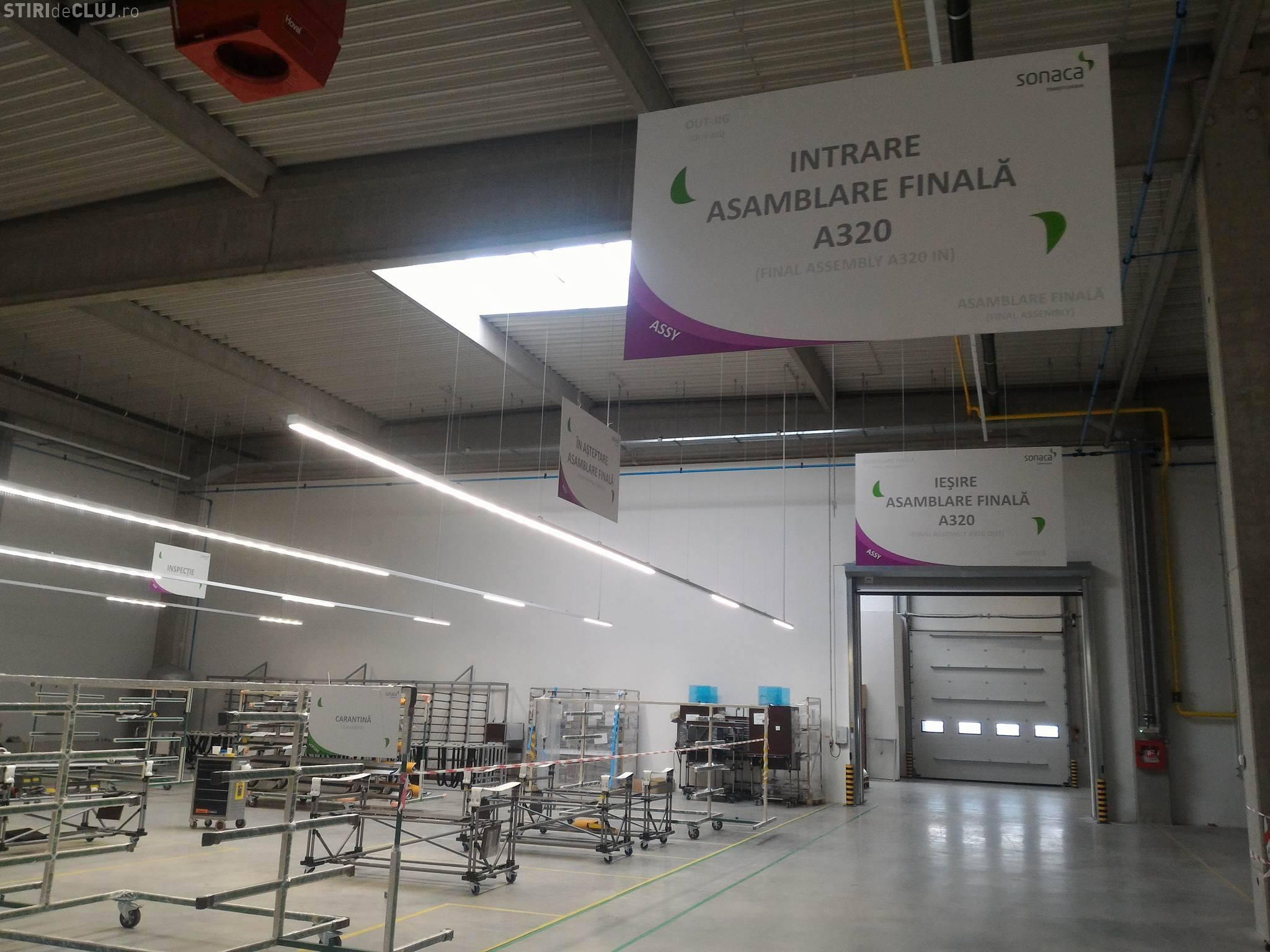 Cluj: S-a deschis fabrica Sonaca, ce va produce componente pentru Airbus. Autostrada Transilvania a fost un ATU - FOTO