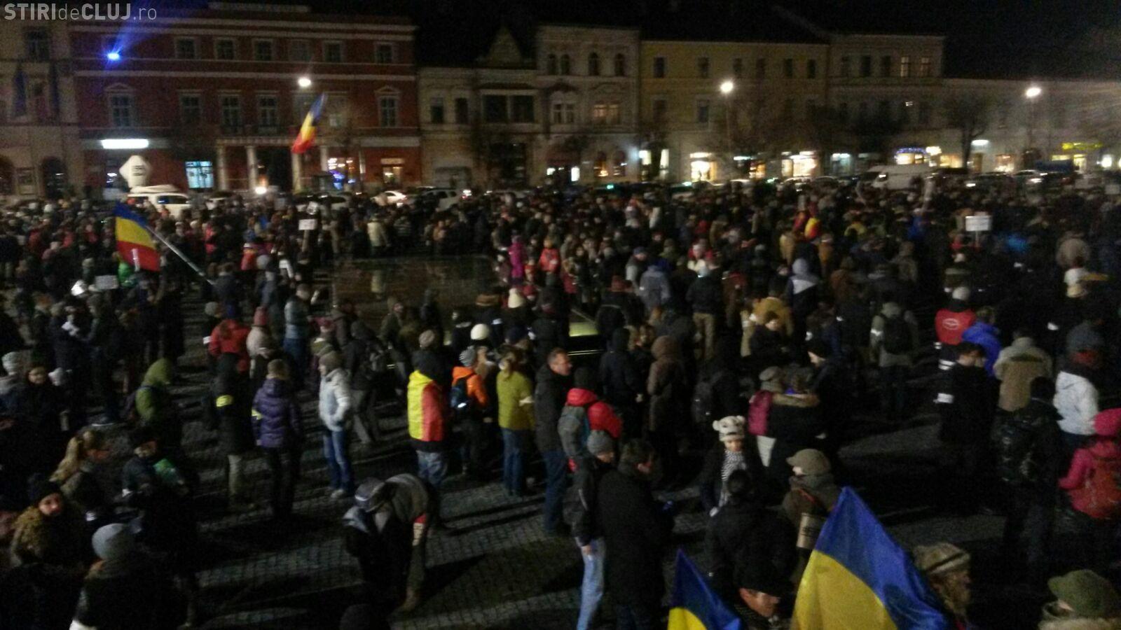 """Protest la Cluj, miercuri seară: """"Nu ne dorim nerespectarea votului din decembrie"""""""