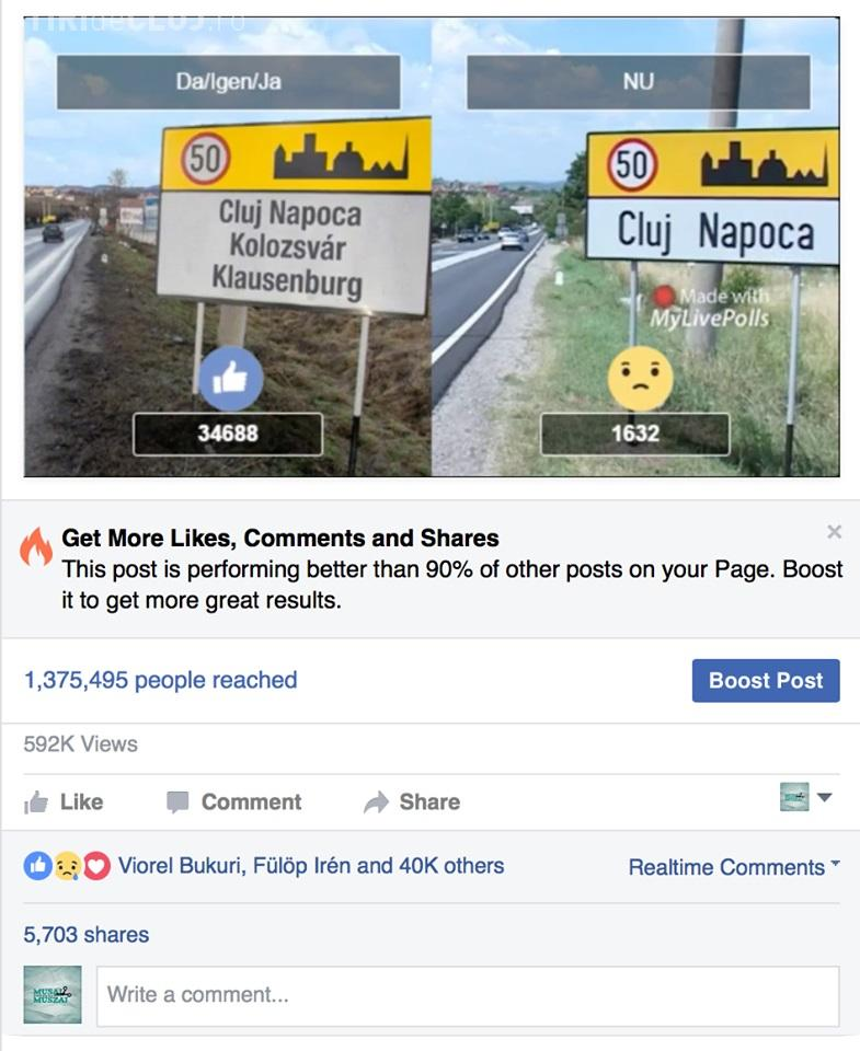 Un sondaj pe Facebook arată că clujenii vor plăcuțe multilingve - FOTO