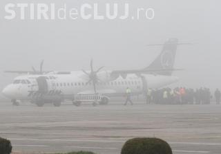 Mai multe curse de pe Aeroportul Cluj au întârzieri din cauza ceței