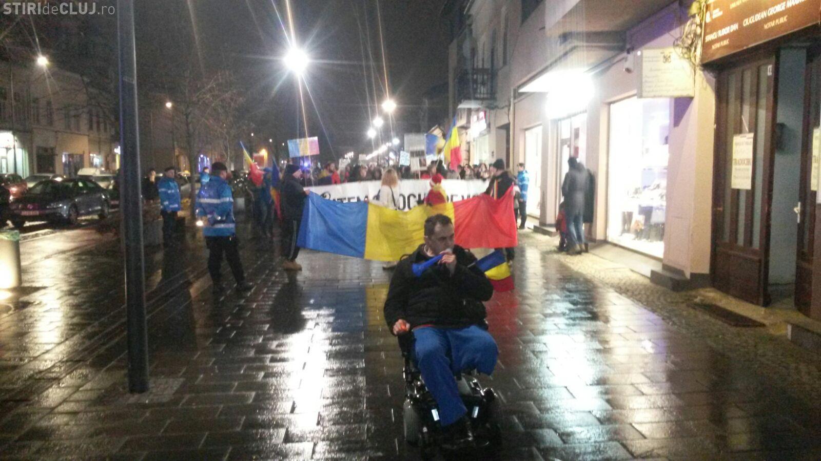 Clujenii protestează din nou. Peste 3.000 de persoane au ieșit în stradă FOTO/VIDEO