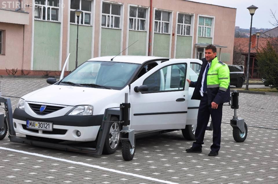Bogdan Marișca, elev pentru o zi la Școala de Poliție din Cluj - FOTO