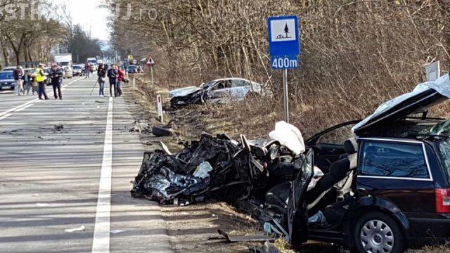 Prăpăd pe drumul Dej - Baia Mare. Un șofer clujean a decedat VIDEO
