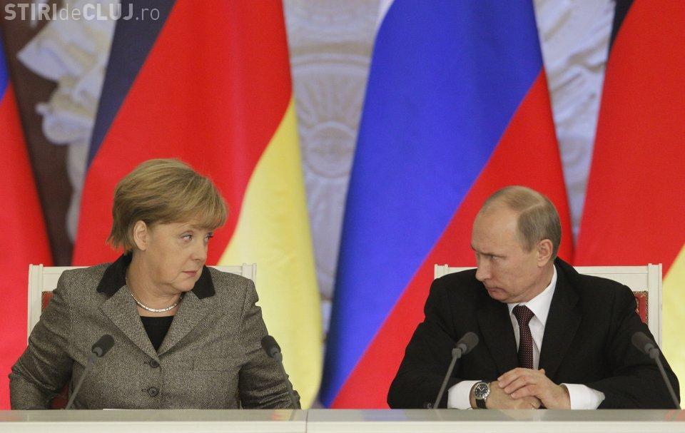Întâlnire între Merkel și Putin, la Moscova. Când va avea loc întrevederea
