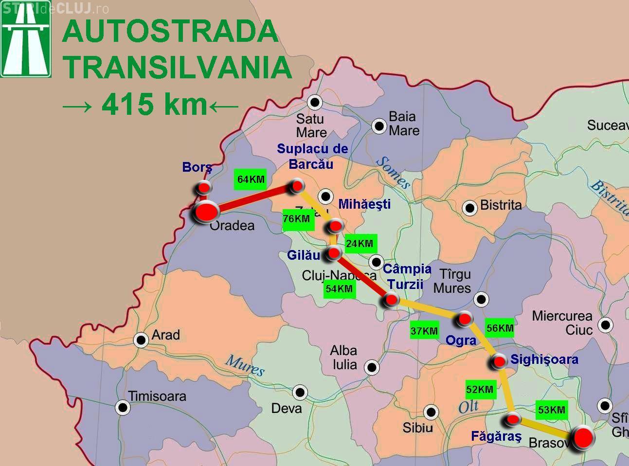 Sectorul de autostradă Gilău -Mihăieşti trebuia să treacă printr-un sat. CJ Cluj a corectat greșeala