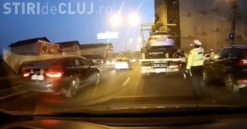 Cluj-Napoca: Reacția unui polițist local de la ridicări auto: Vă place dezordinea - VIDEO