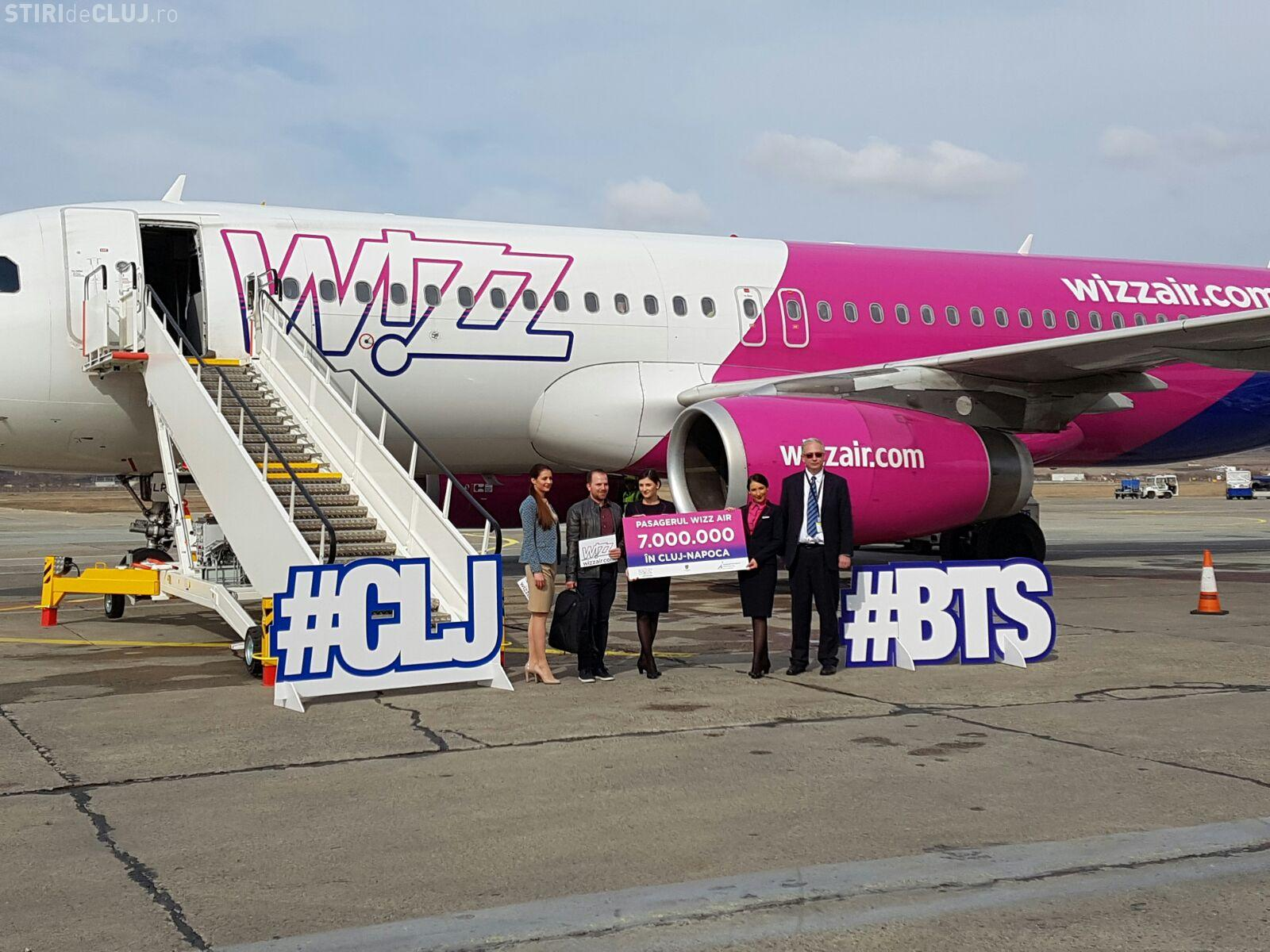 Wizz Air sărbătorește 7.000.000 de pasageri pe Aeroportul Cluj. Au lansat și o nouă rută, de la Cluj FOTO/VIDEO