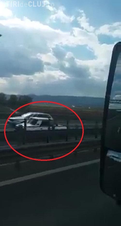 "Pe contrasens pe Autostrada Transilvania: ""Asta inseamna sa fii mafiot!"" - VIDEO"