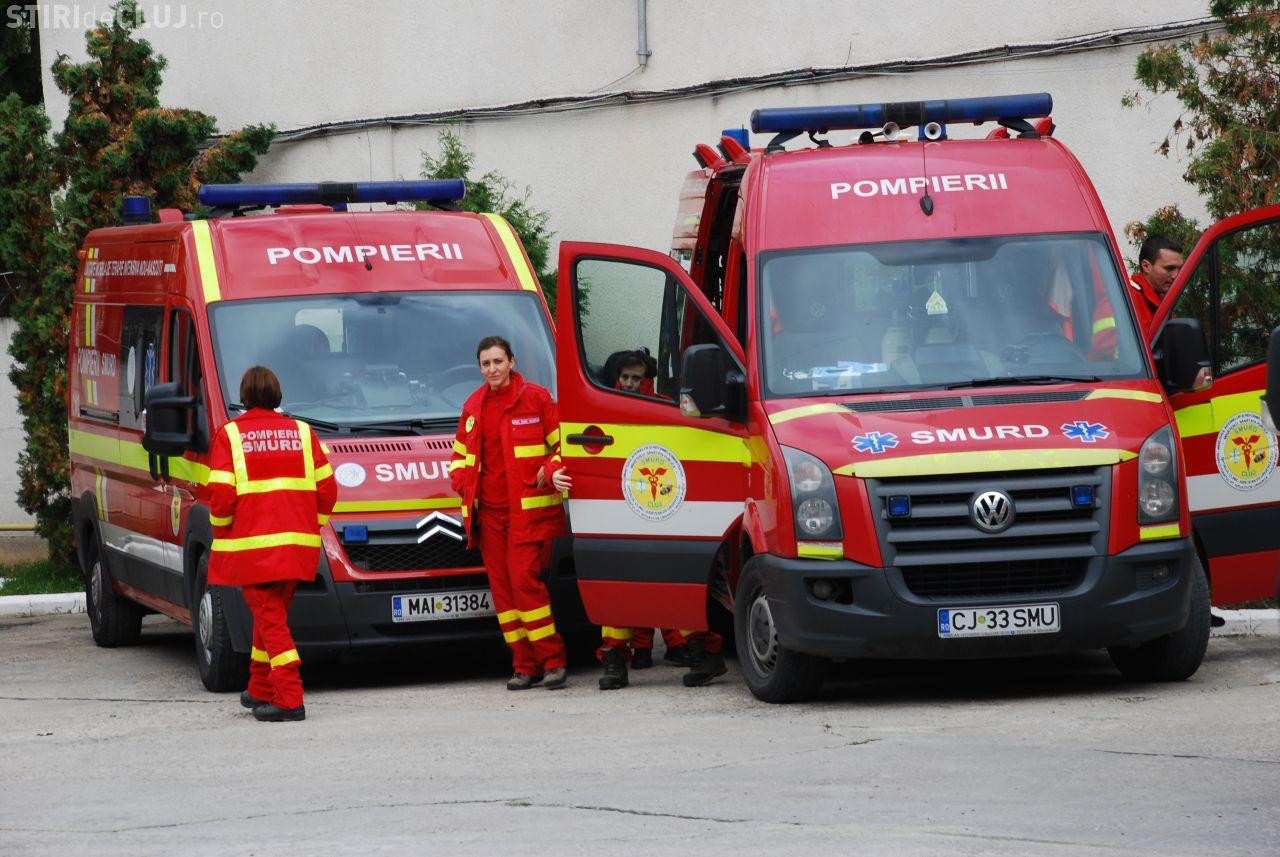 Patru clujeni intoxicați cu fum! Oamenii au ajuns la spital în stare gravă