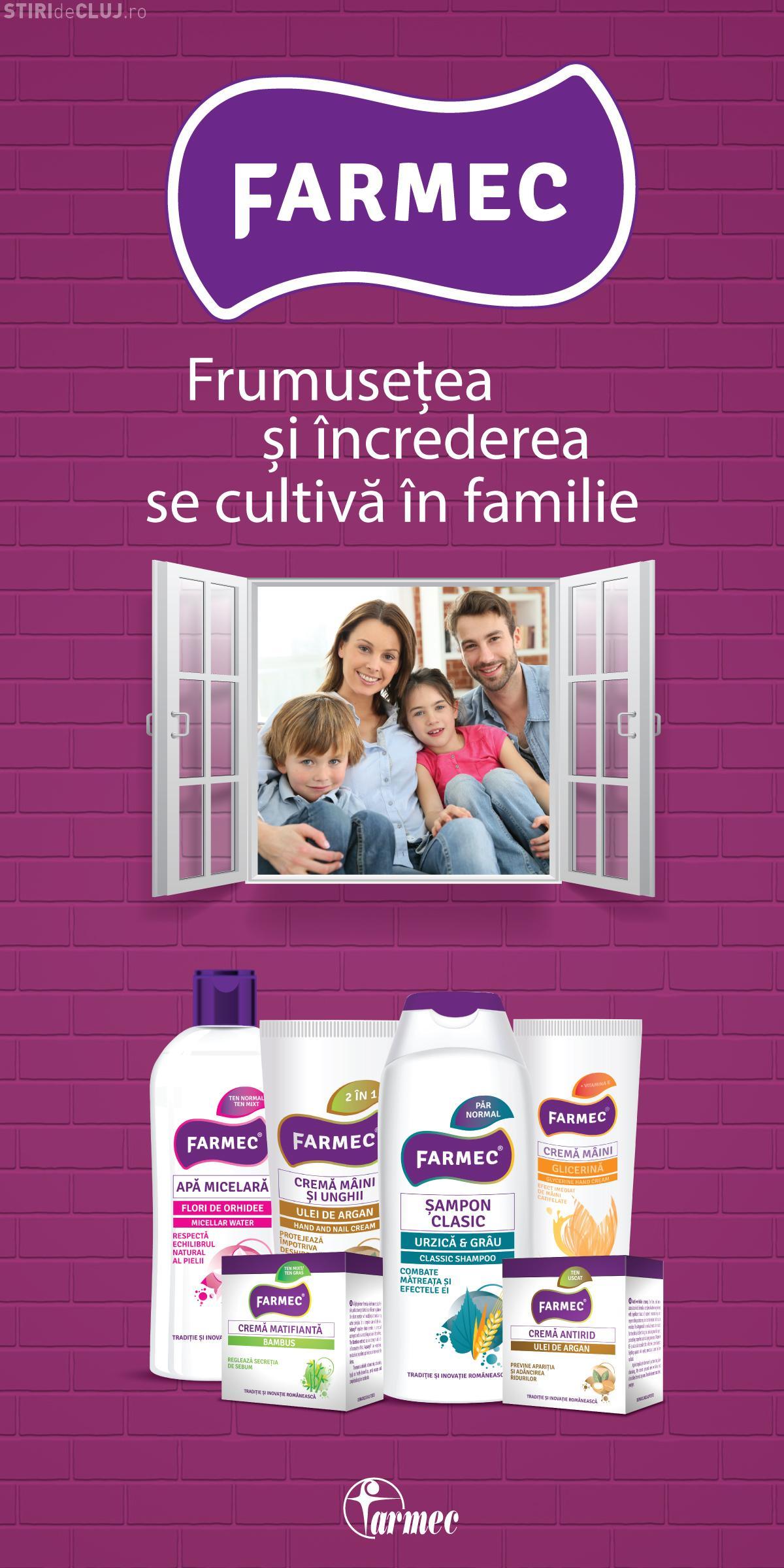 Farmec lansează o nouă gamă de produse, pentru toată familia (P)