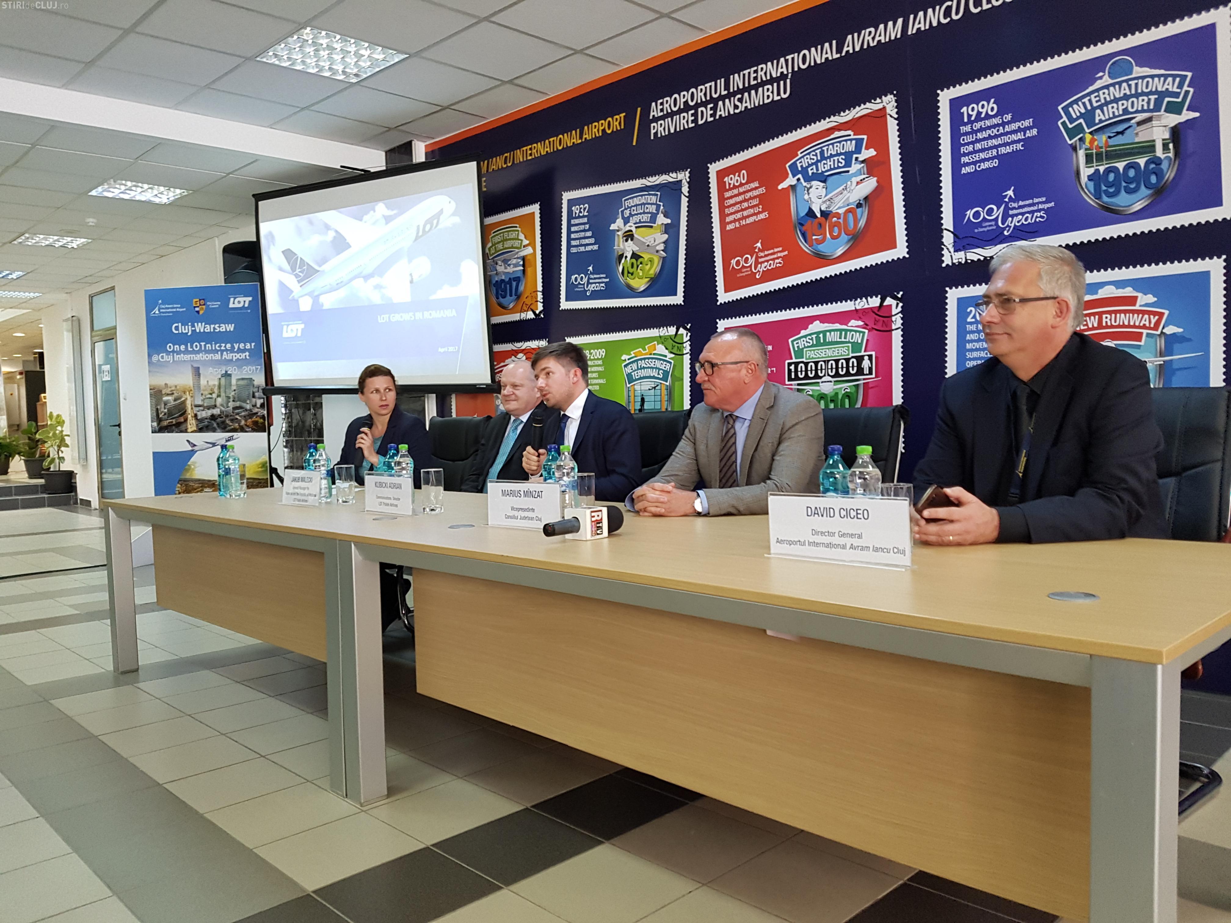 Compania LOT va crește numărul de zboruri pe ruta Cluj-Napoca - Varșovia