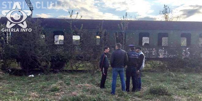 Un tânăr din Cluj și-a riscat viața pentru un selfie. S-a urcat pe un vagon de tren și s-a electrocutat FOTO
