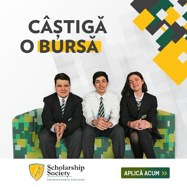 Transylvania College, din Cluj-Napoca, oferă burse de excelență pentru întreaga perioadă a liceului. Cum se pot înscrie copiii