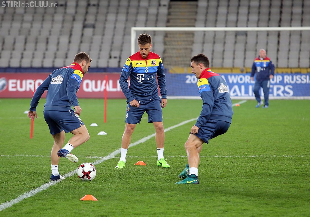 Naționala României s-a antrenat pe Cluj Arena. Care este strategia lui Daum pentru meciul cu Danemarca
