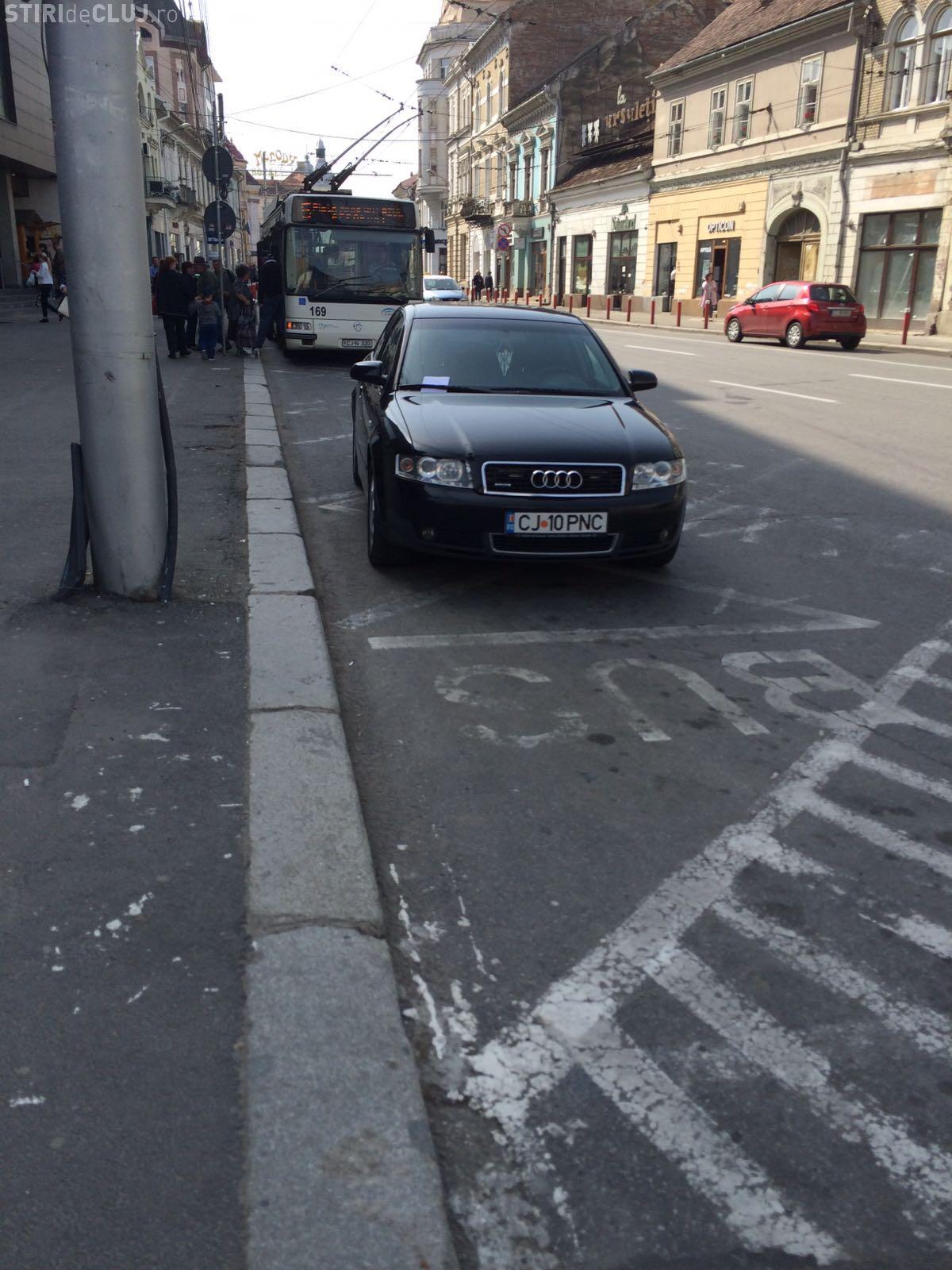 Așa a fost parcată mașina de serviciu a șefului Poliției Cluj, Ciprian Miron! Ce a URMAT - FOTO