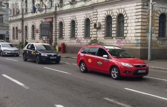 Taximetriștii au protestat, din nou, la Cluj împotriva Uber VIDEO