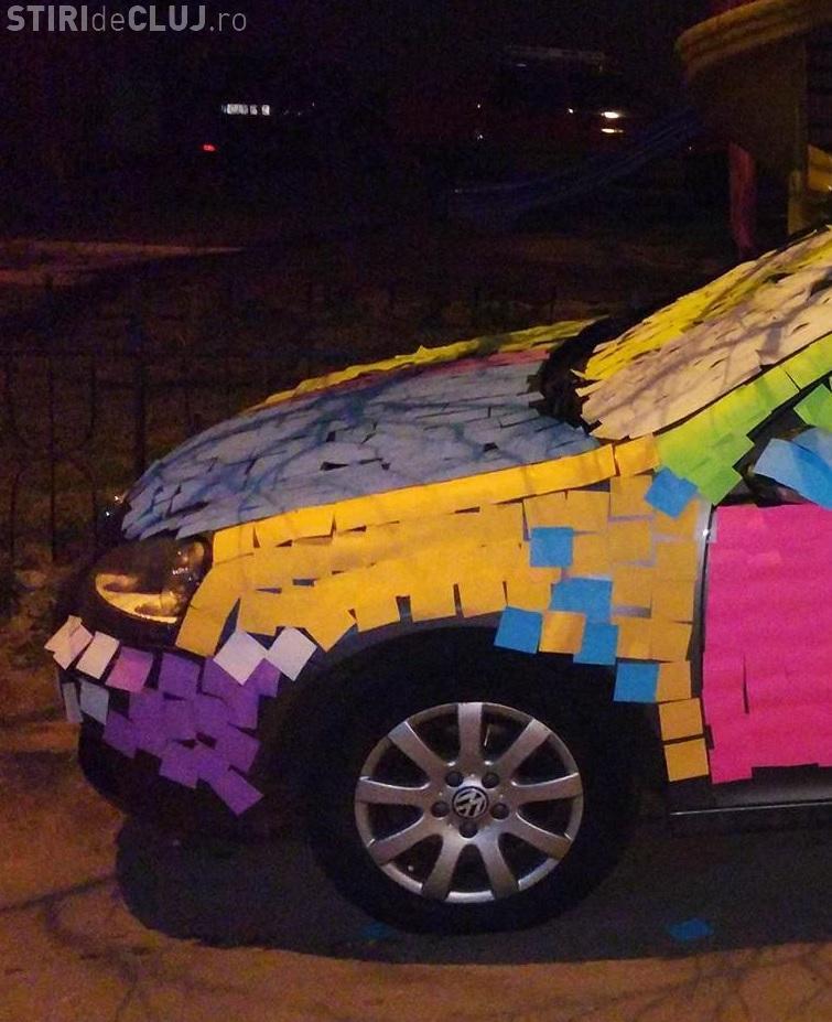 Cluj-Napoca: A parcat pe trotuar în Grigorescu și l-au făcut de RUȘINE - FOTO