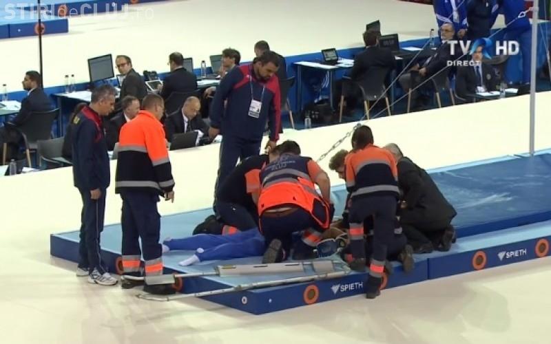 Gimnastul Laurențiu Nistor s-a accidentat! Panică în lotul României, la Campionatele Europene de Gimnastică de la Cluj