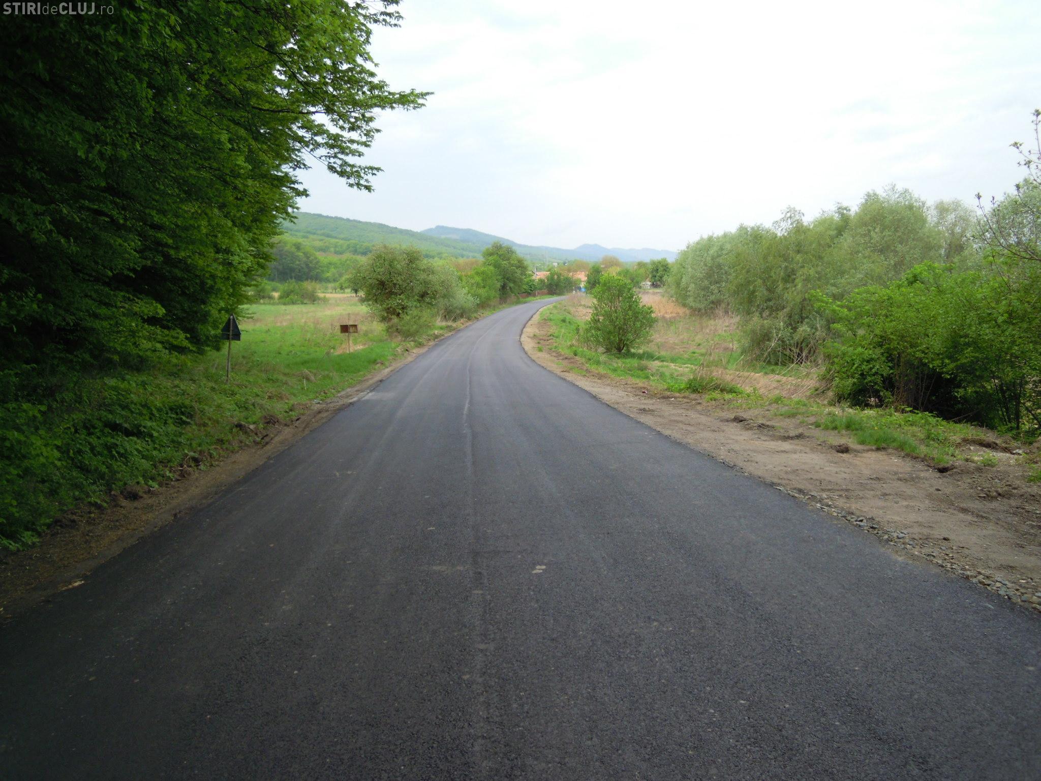 Cluj: Finalizare lucrările pe drumul judeţean DJ 109E Viile Dejului - Cetan - Vad